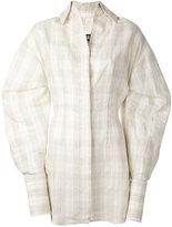 Jacquemus checked shirt dress - women - Silk/Cotton/Linen/Flax/Polyester - 40
