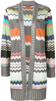Missoni zig-zag open cardigan - women - Polyester/Cupro/Viscose - 44