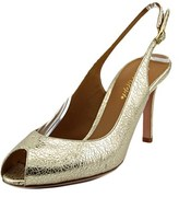 Ernesto Esposito Anthousa Peep-toe Leather Slingback Heel.