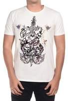 Just Cavalli Men Love T-shirt Cream.