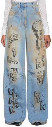 Off-White Blue Graffiti Tomboy Jeans