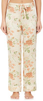 Raven & Sparrow by Stephanie Seymour Women's Tulip-Print Silk Pajama Pants