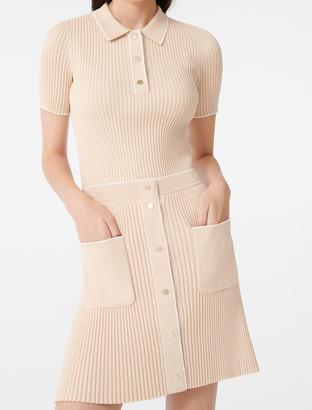 Maje Close-fitting knit skirt