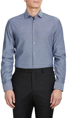 John Varvatos Solid Extra Trim Fit Dress Shirt