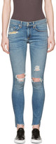 Rag & Bone Blue Distressed Skinny Jeans