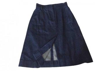 Antipodium Blue Cotton Skirt for Women