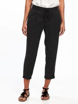 Old Navy Mid-Rise Soft Tapered Crops for Women