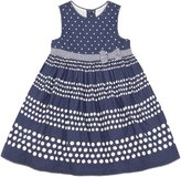 Jo-Jo JoJo Maman Bebe Spot Party Dress (Toddler/Kid) - Navy-2-3