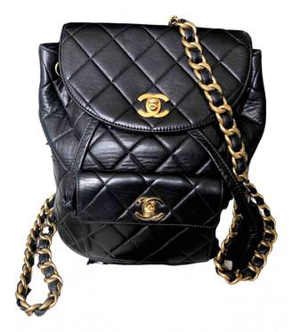 Chanel Duma Black Leather Backpacks
