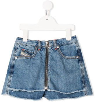 Diesel Distressed Detail Zipped Shorts