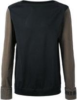 Juun.J slogan cuff and neck T-shirt - men - Cotton/Polyethylene - 46