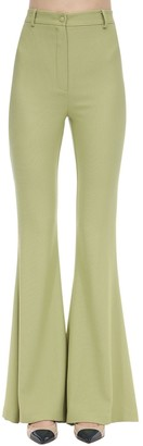 Hebe Studio Bianca Flared Viscose Blend Cady Pants