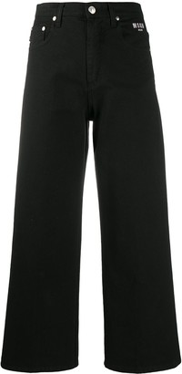MSGM Cropped Flared Jeans
