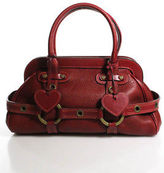 Luella Red Leather Giselle Satchel Handbag Size Medium
