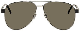 Saint Laurent Silver M53 Sunglasses