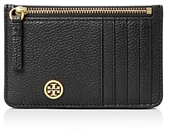 Tory Burch Walker Top Zip Card Case
