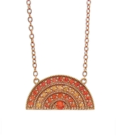 Andrea Fohrman Orange Sapphire Rainbow Pendant Necklace
