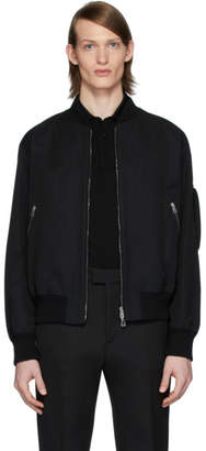 Bottega Veneta Black Side Detail Bomber Jacket
