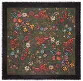 Gucci Flora Snake vintage print wool silk shawl