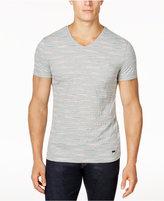 HUGO BOSS Men's Teaser Space-Dyed Stripe V-Neck Pocket T-Shirt