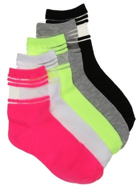 Mix No. 6 Colored Women's Ankle Socks - 5 Pack