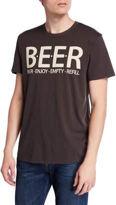 Chaser Men's BEER Cotton Crewneck T-Shirt