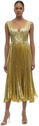 Maria Lucia Hohan Aziza Lurex Chiffon Midi Dress