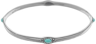 Sterling Silver Simulated Turquoise Bangle Bracelet