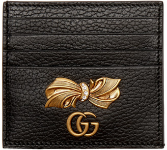 Gucci Black Petit Bow Card Holder