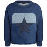Diesel DieselGirls Blue Denim Star Sades Sweater