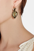 Alexis Bittar Gold-Plated Earrings with Lucite