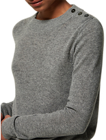 Toast Long Sleeve Button Detail Jumper, Flannel Grey