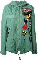 Mr & Mrs Italy - patch detail military jacket - women - Cotton/Polyamide/Polyester/Wool - XS