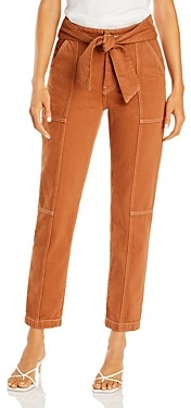Jonathan Simkhai Standard Tie Waist Denim Cargo Pants