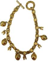 Celine Gold Metal Necklace