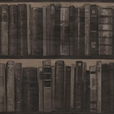 Andrew Martin Library Wallpaper - Pack of 2 - Cocoa