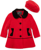 S Rothschild Rothschild Velvet-Trim Coat - Preschool Girls 4-6x