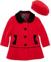 Vertical 9 Rothschild Velvet-Trim Coat - Toddler Girls 2t-5t