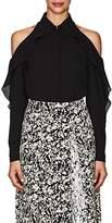 Zac Posen Women's Crepe Cold-Shoulder Blouse