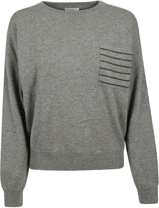 Brunello Cucinelli Patched Rib Sweater