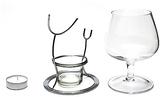 Final Touch Vinology Brandy Glass and Warmer Set
