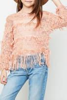 Hayden Los Angeles Trendsetter Fringe Sweater
