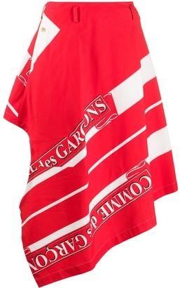 Comme des Garçons Homme Plus Asymmetric Logo Print Trouser Skirt