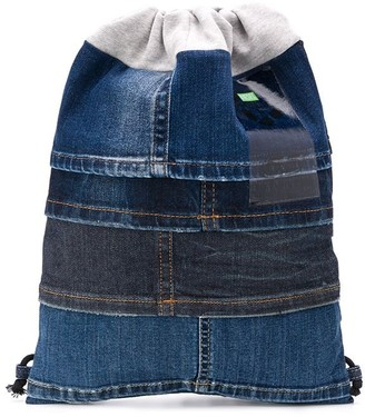 Diesel Drawstring Denim Backpack