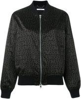 Givenchy logo print bomber jacket