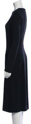 Ter Et Bantine Crew Neck Midi Length Dress Black