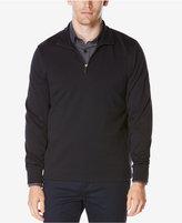 Perry Ellis Men's Jacquard Quarter-Zip Sweater