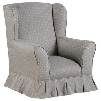 Viv + Rae Evangelina Wing Kids Cotton Club Chair Color: Mini Dot French Gray