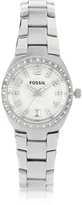 Fossil Stainless Steel & Crystals Women's Bracelet Watch