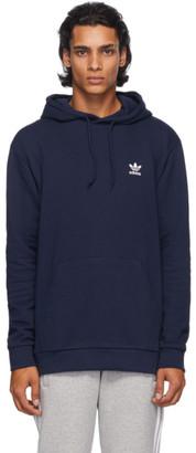 adidas Navy Trefoil Essentials Hoodie